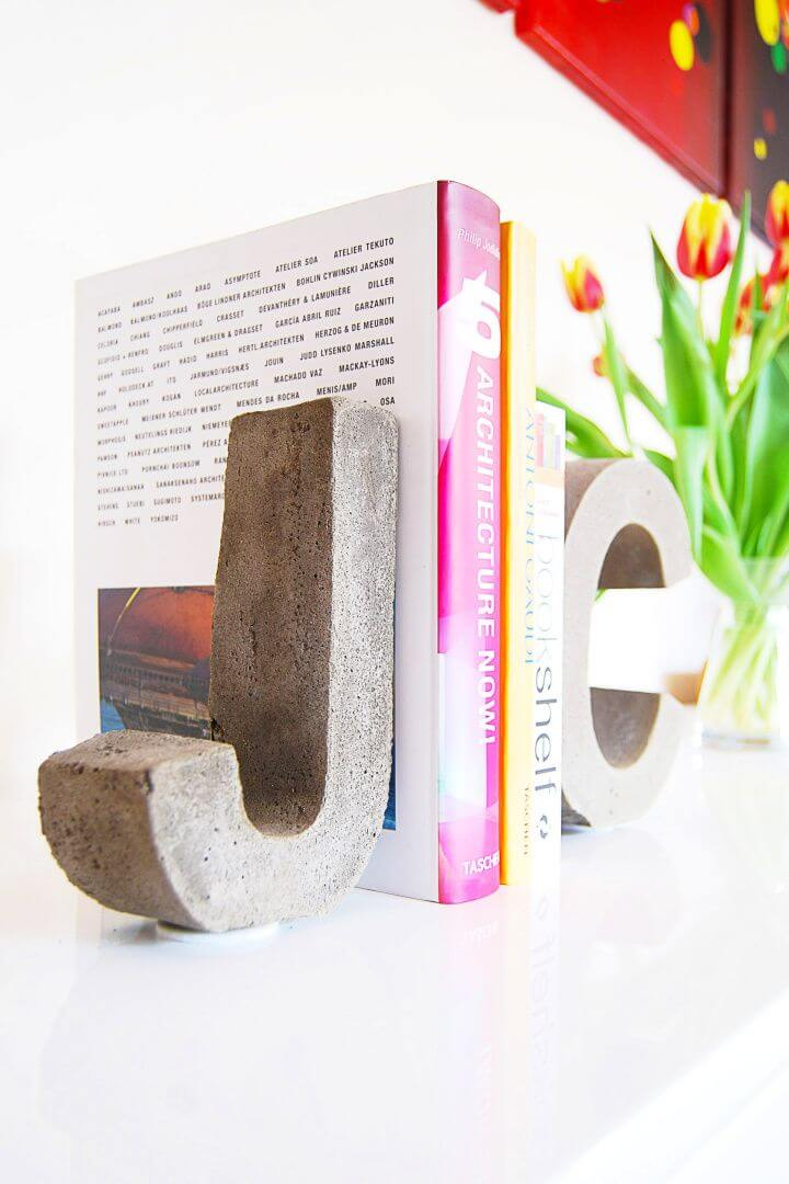 Concrete Letter Bookends