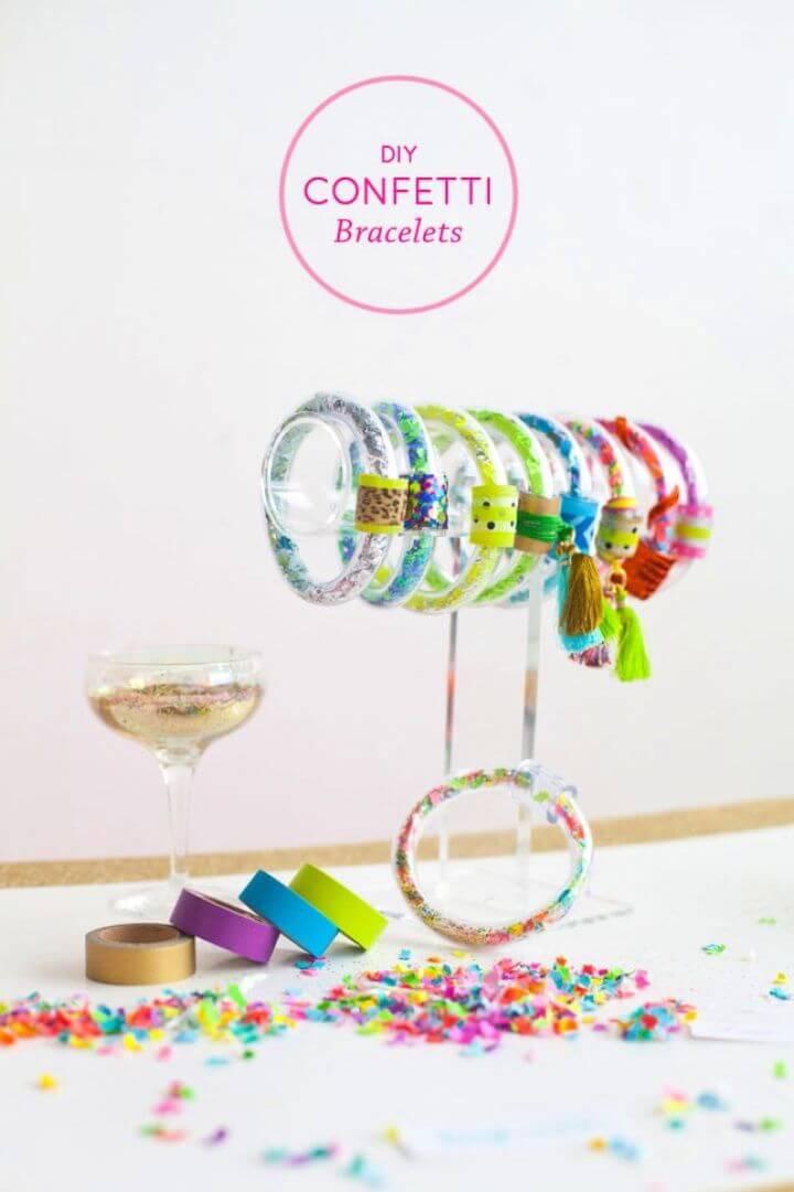 Confetti Bracelets Tutorial