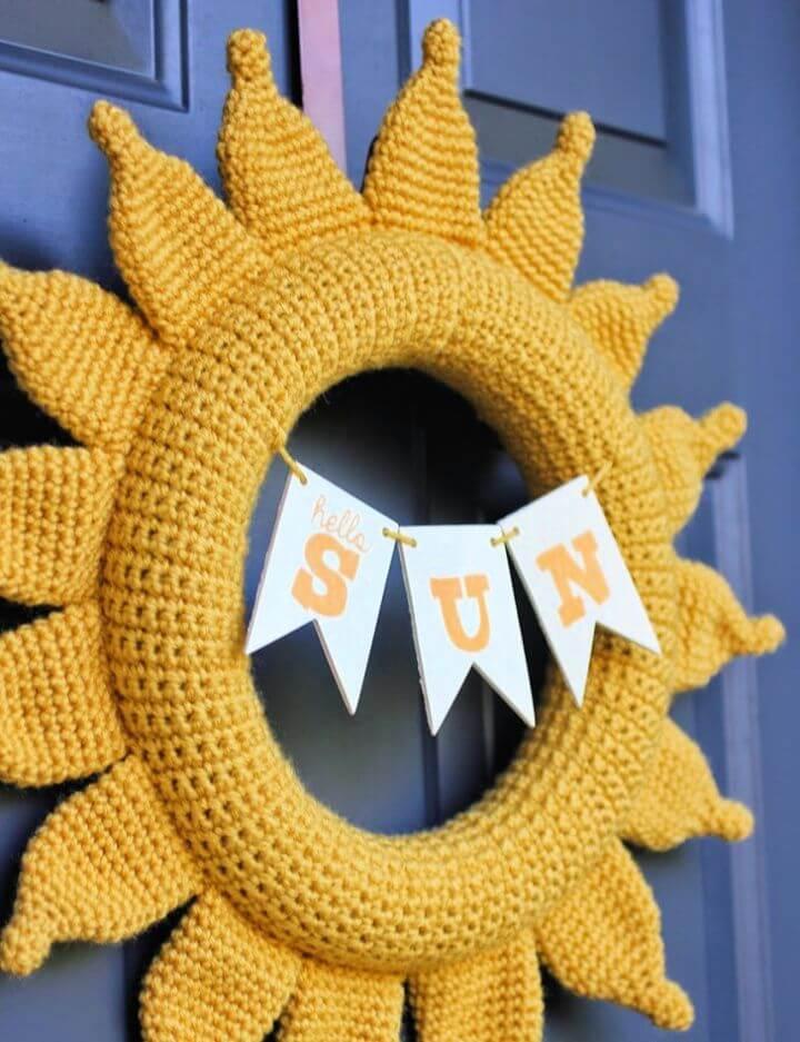 Crochet Summer Sun Wreath