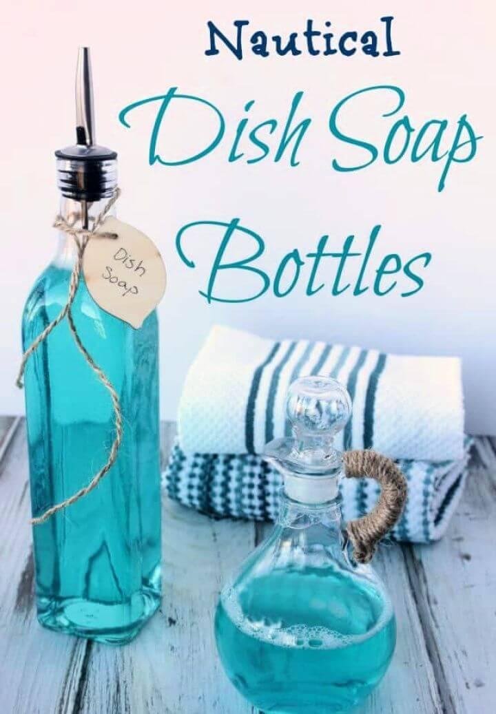 Cute DIY Nautical Dish Soap Bottles