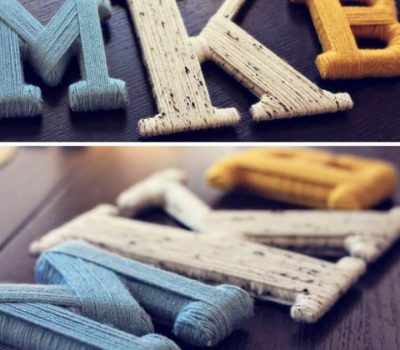 Cute DIY Yarn Wrapped Letters