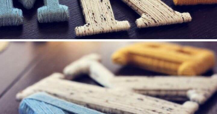 Cute DIY Yarn Wrapped Letters