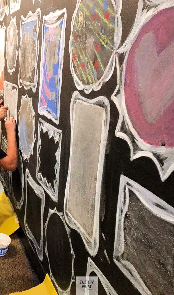 DIY Chalkboard Paint Wall Idea