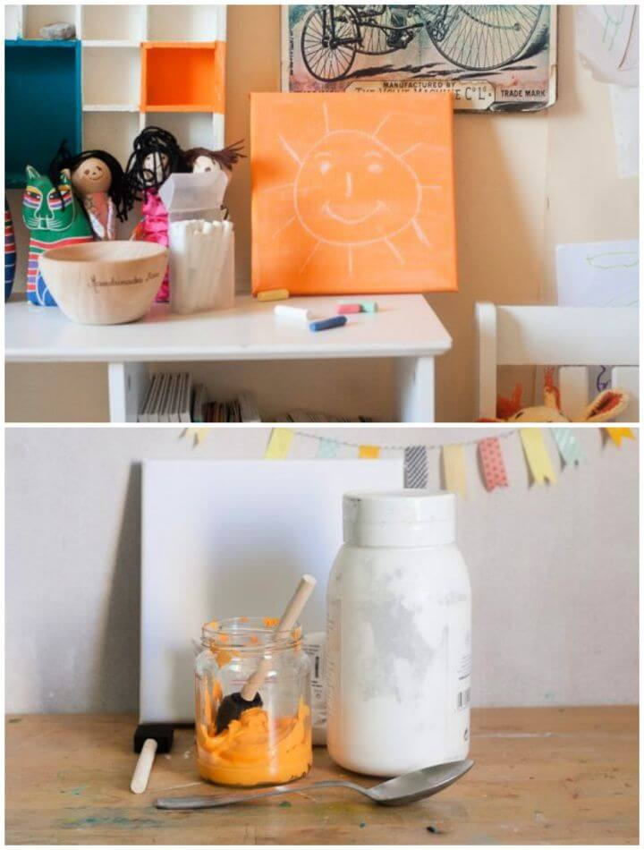 DIY Chalkboard Paint and Canvas