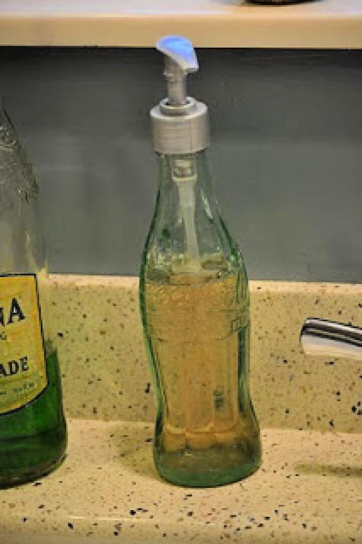 DIY Coke Bottle Soap Dispenser