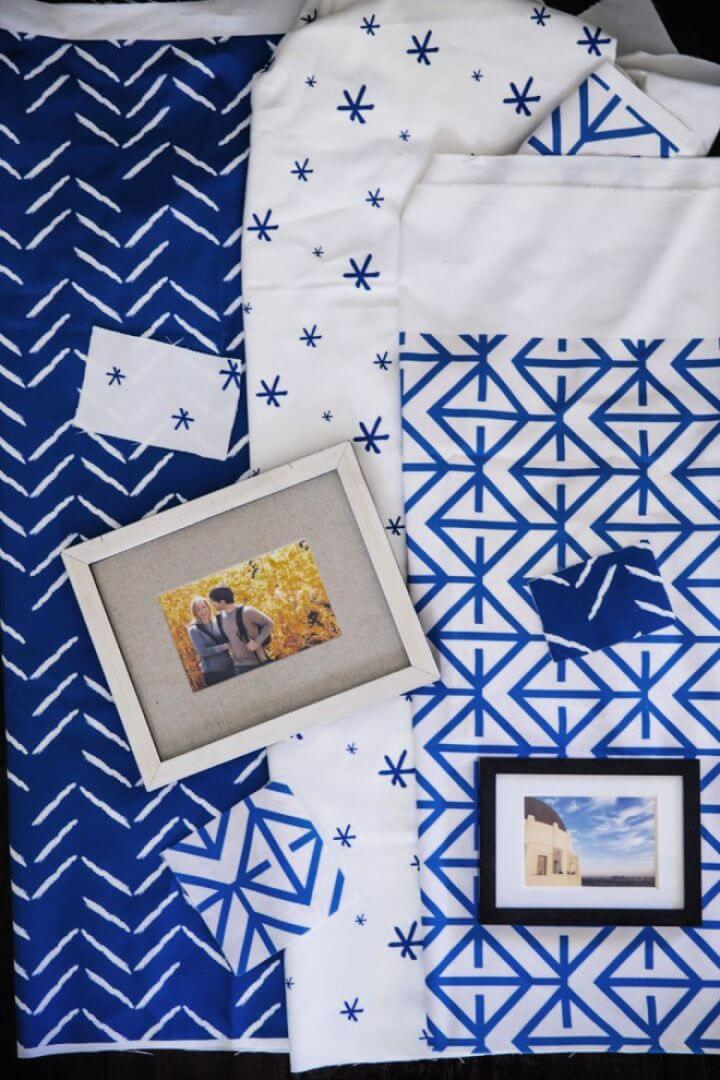 DIY Fabric Mats With Picture Frames 660x990