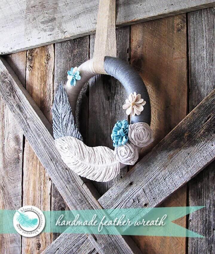 DIY Handmade Yarn Feather Tutorial