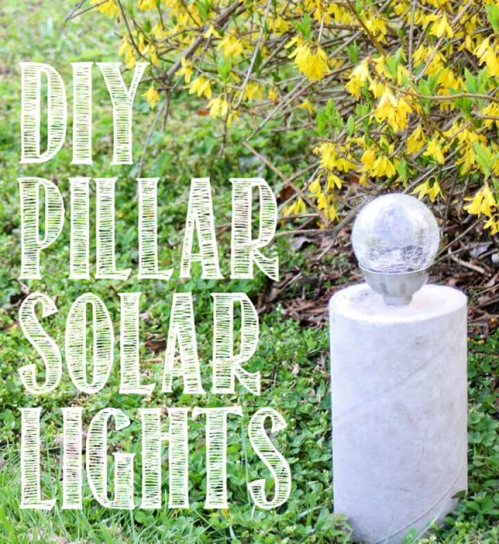 DIY Industrial Style Concrete Pillar Solar Light