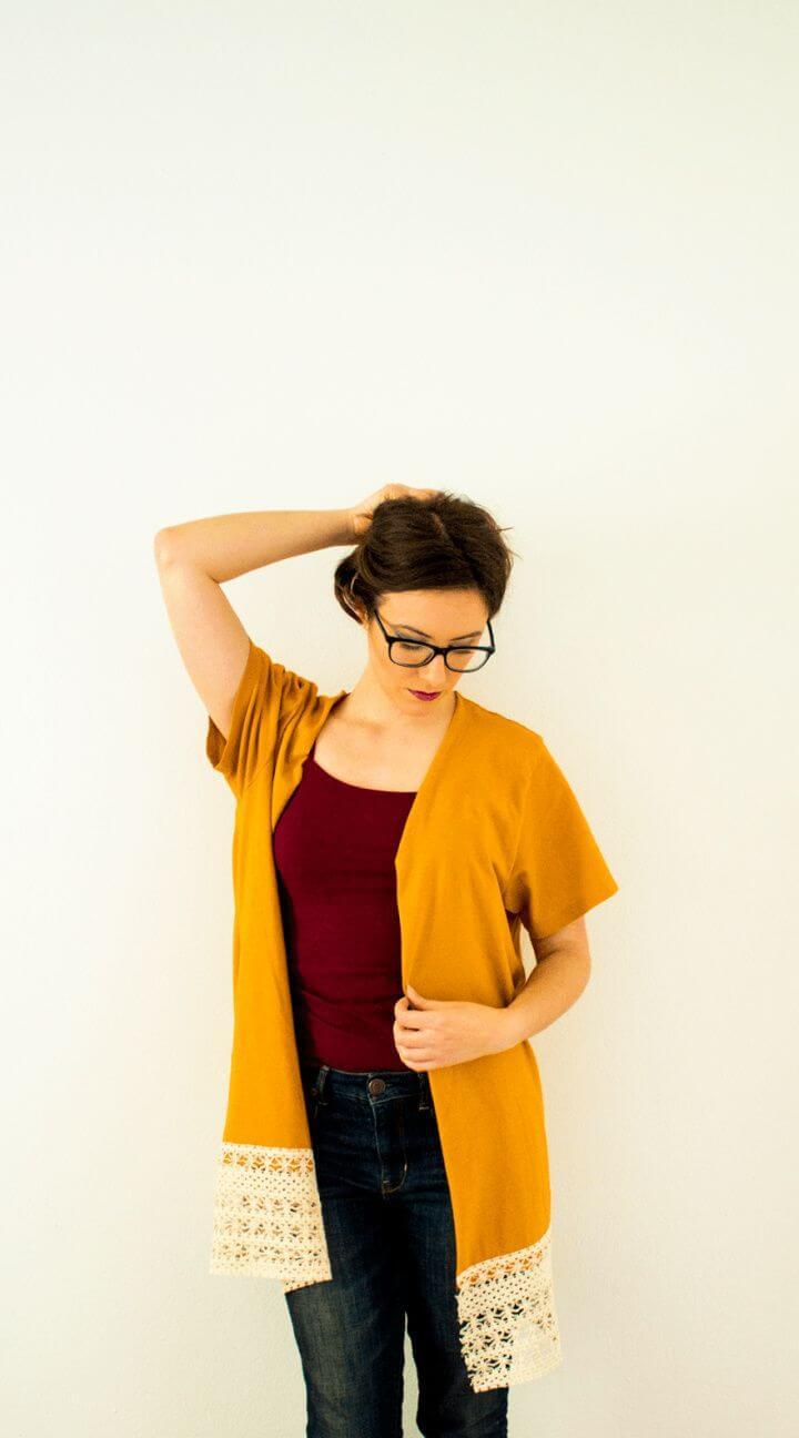 DIY Kimono From a T Shirt