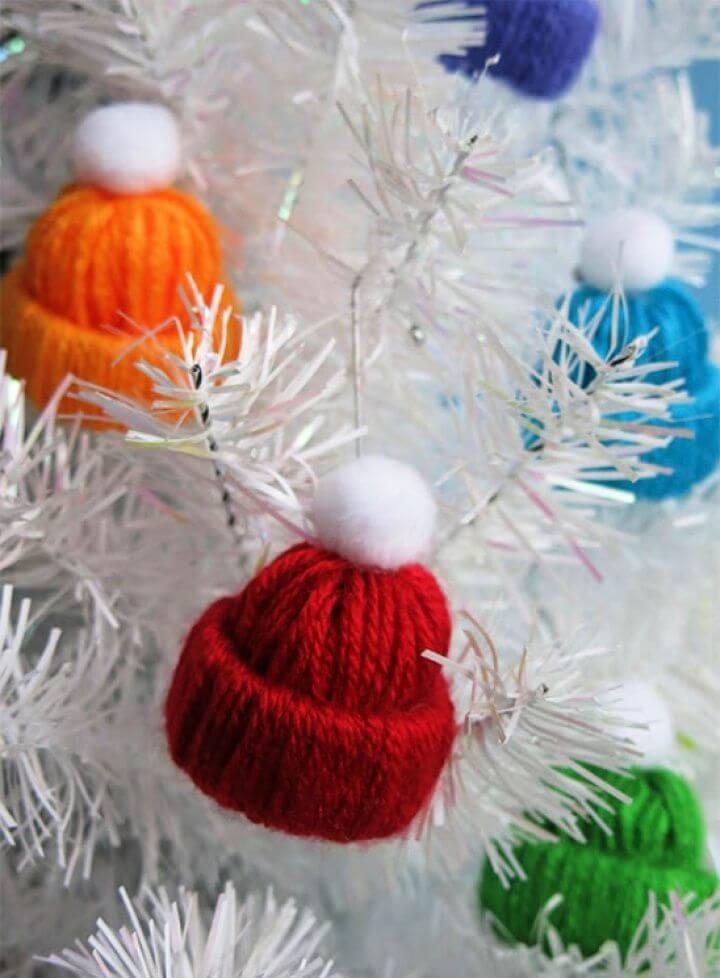 DIY Miniature Winter Hat Yarn Craft