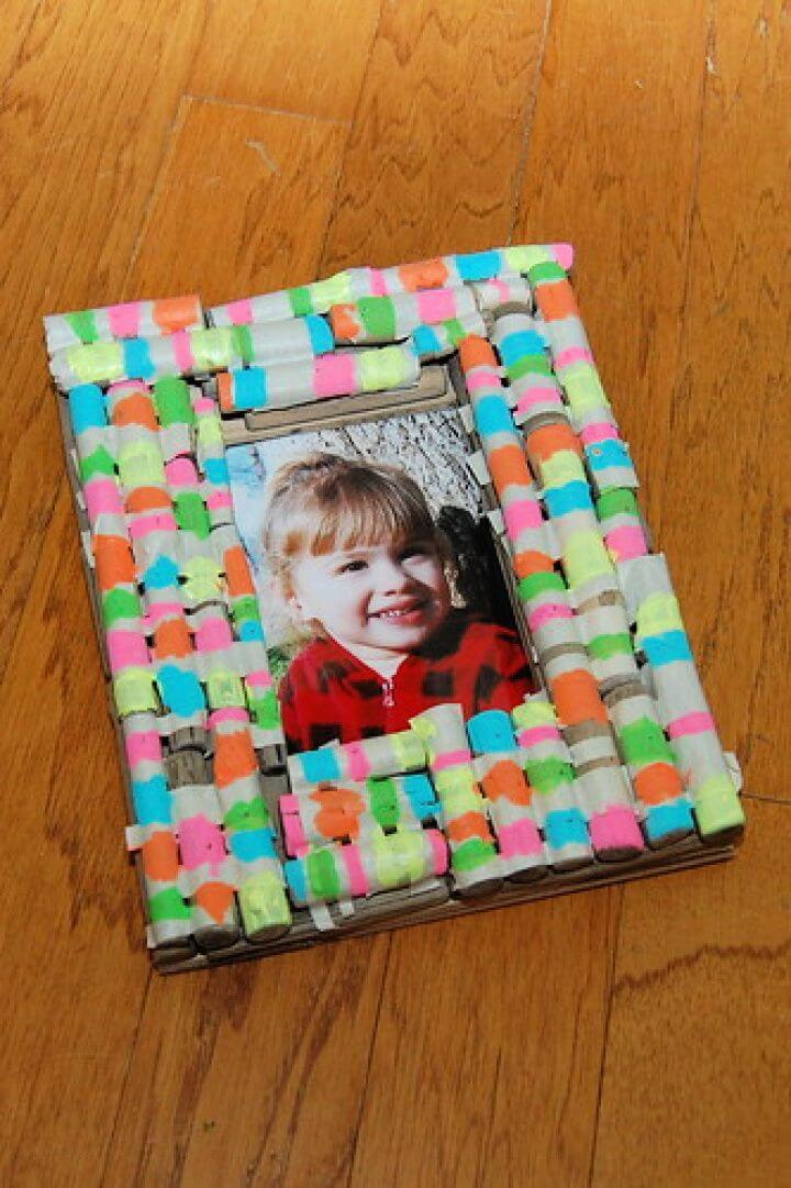 DIY Neons and Nature Picture Frame