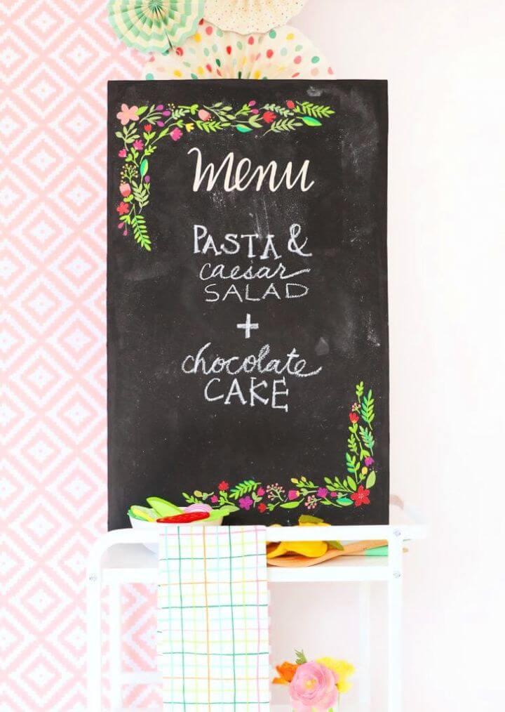 DIY Perfect Chalkboard Lettering