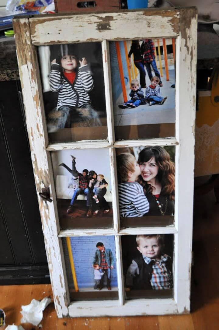 DIY Picture Frame Window Door