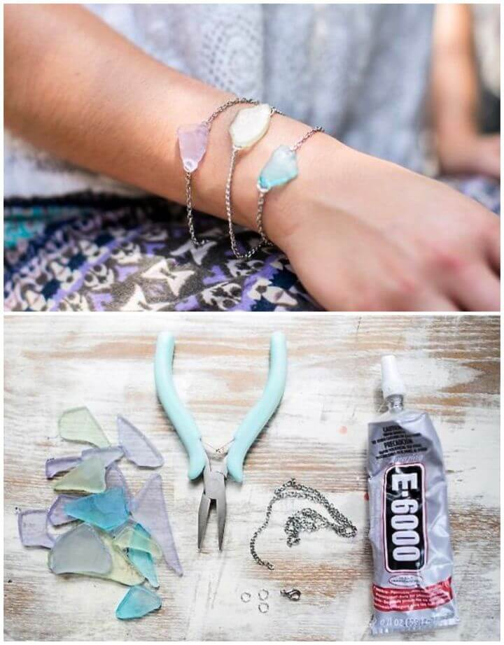 DIY Sea Glass Bracelet