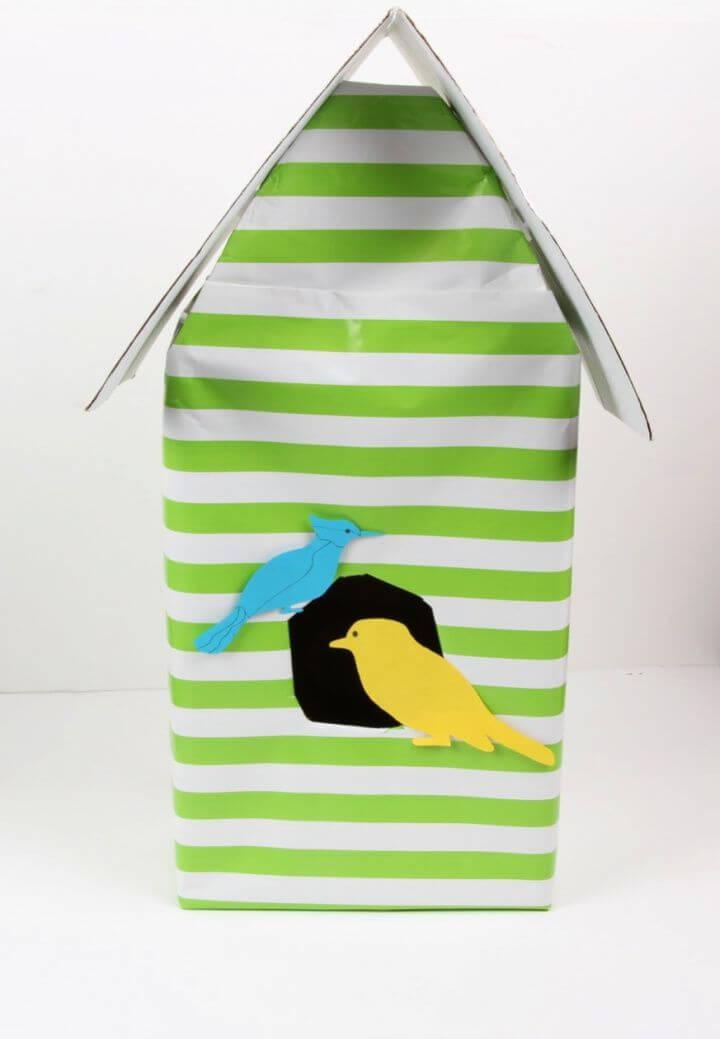 DIY Shoe Box Birdhouse
