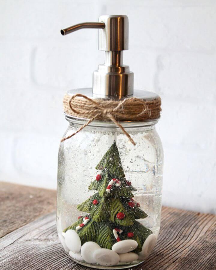 DIY Snow Globe Inspired Soap Pump