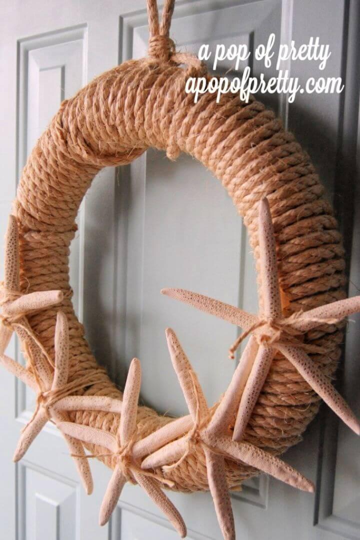 DIY Starfish Summer Wreath – Free Tutorial