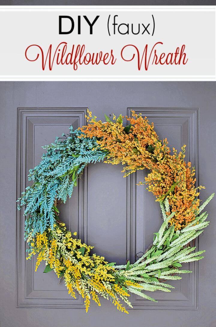 DIY Summer Wildflower Wreath