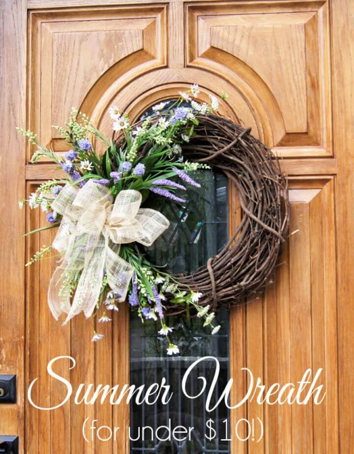 DIY Summer Wreath for Under 10