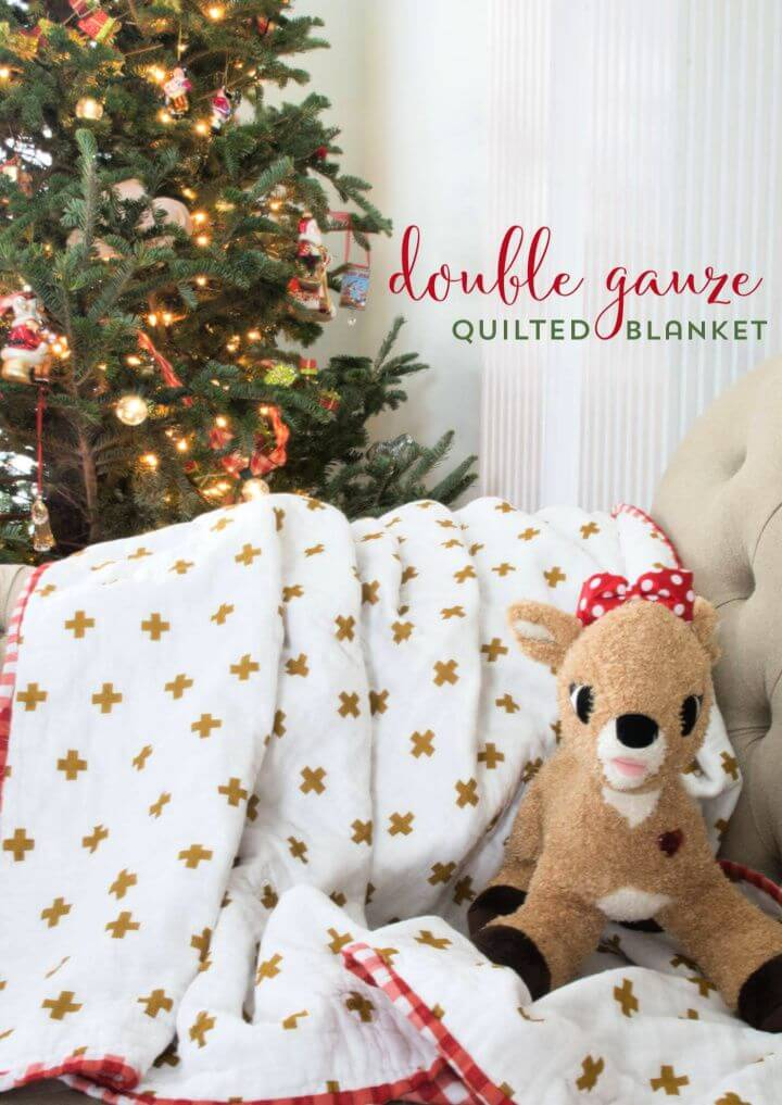 Double Gauze Quilted Blanket Tutorial