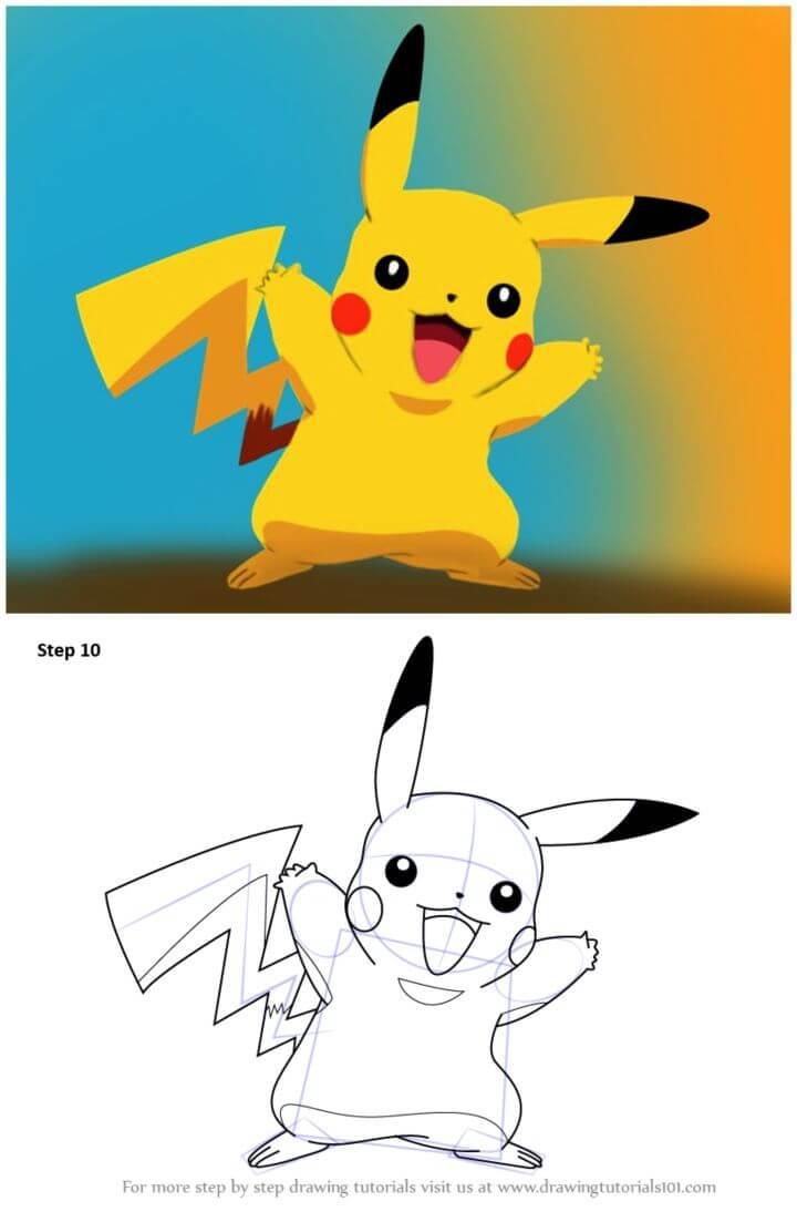 Draw Pikachu from Pokemon