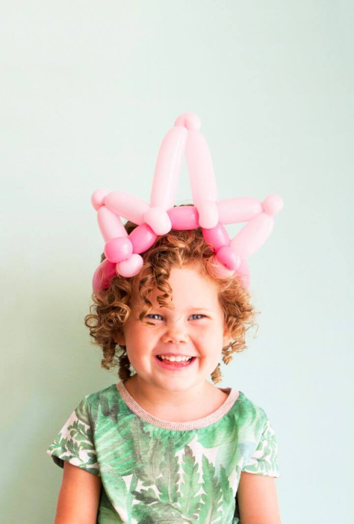 Easy Balloon Princess Crown