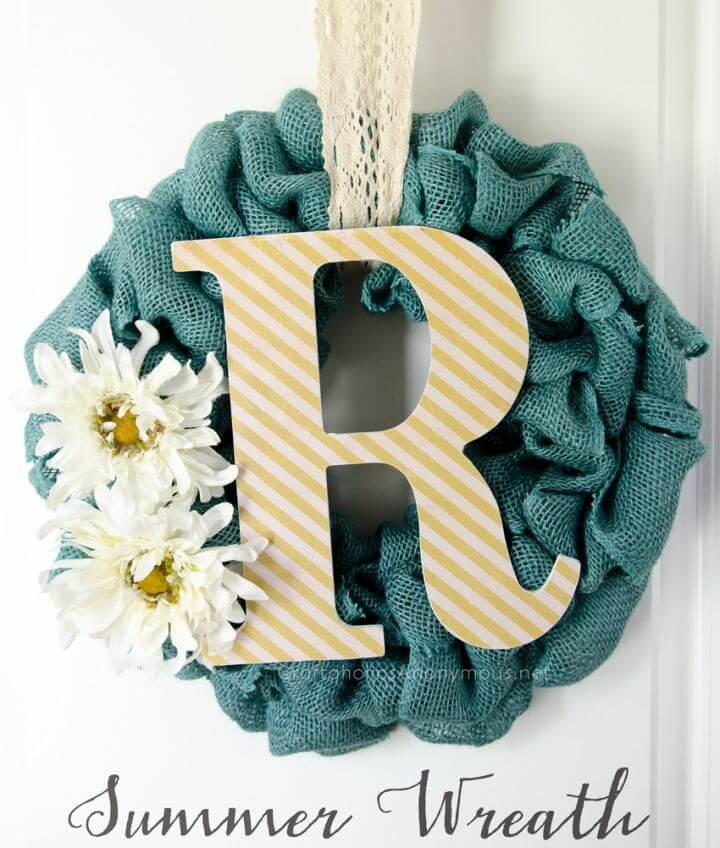 Easy Burlap Summer Wreath