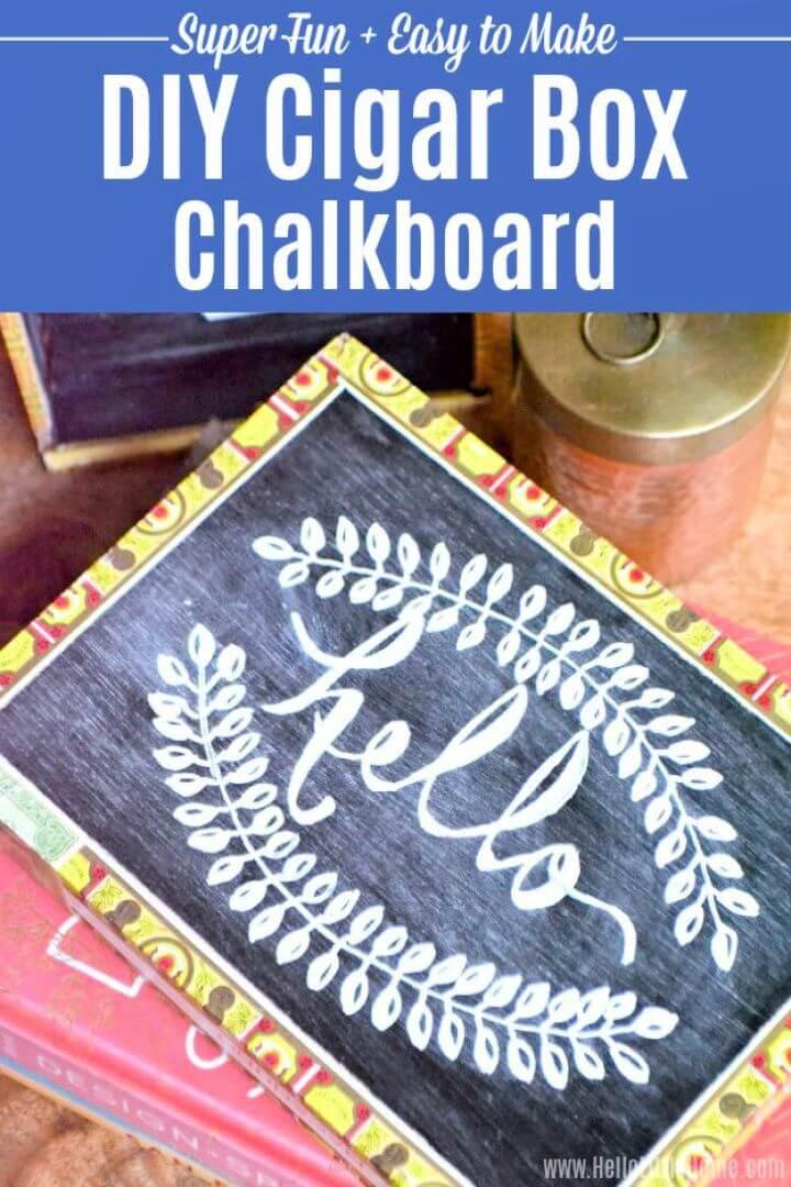 Easy Cigar Box Chalkboard Paint