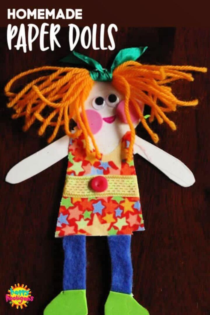 Easy DIY Homemade Paper Dolls