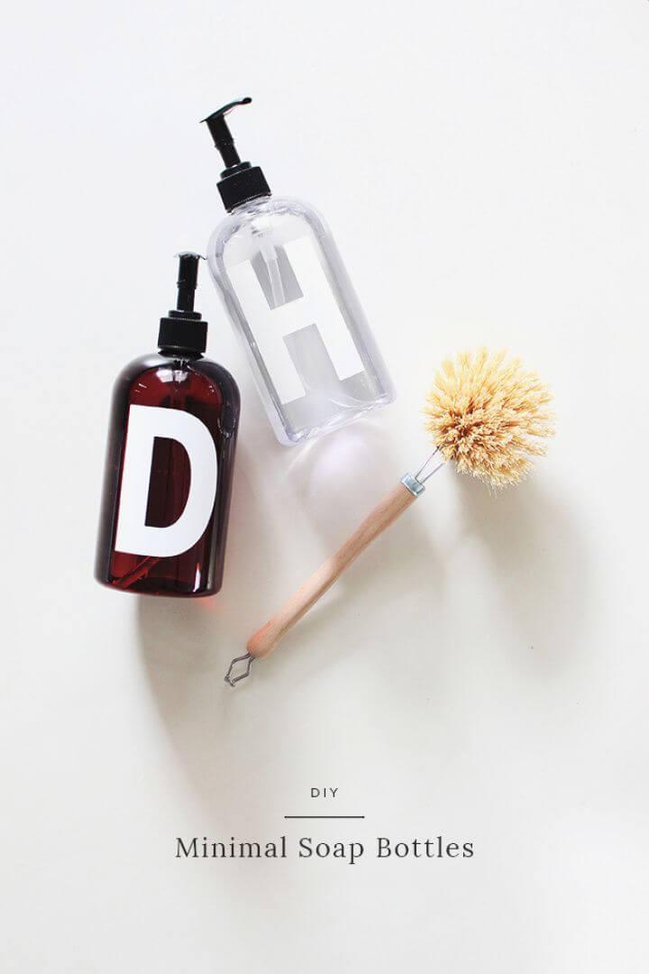 Easy DIY Minimal Soap Bottles