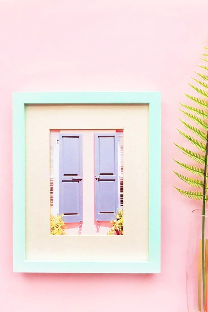 Easy DIY Pastel Picture Frames Tutorial