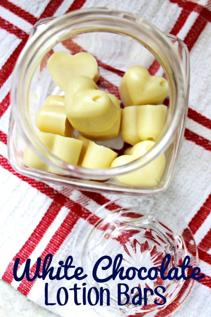 Easy DIY White Chocolate Lotion Bars