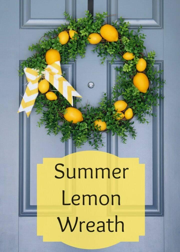 Easy Summer Lemon Wreath