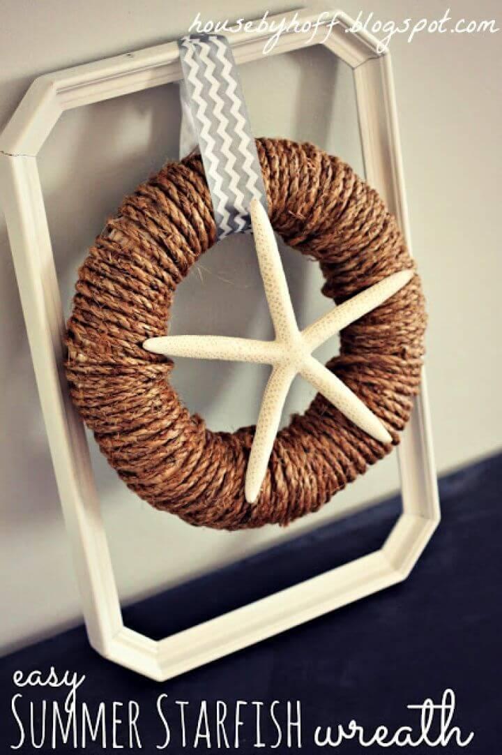 Easy Summer Starfish Wreath