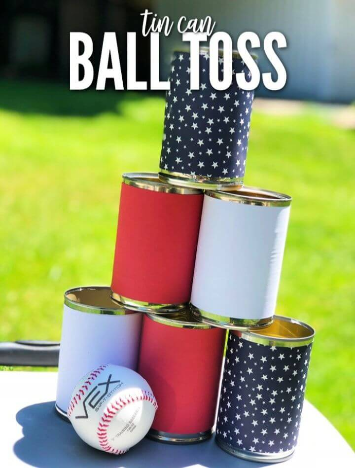 Easy Tin Can Ball Toss Game