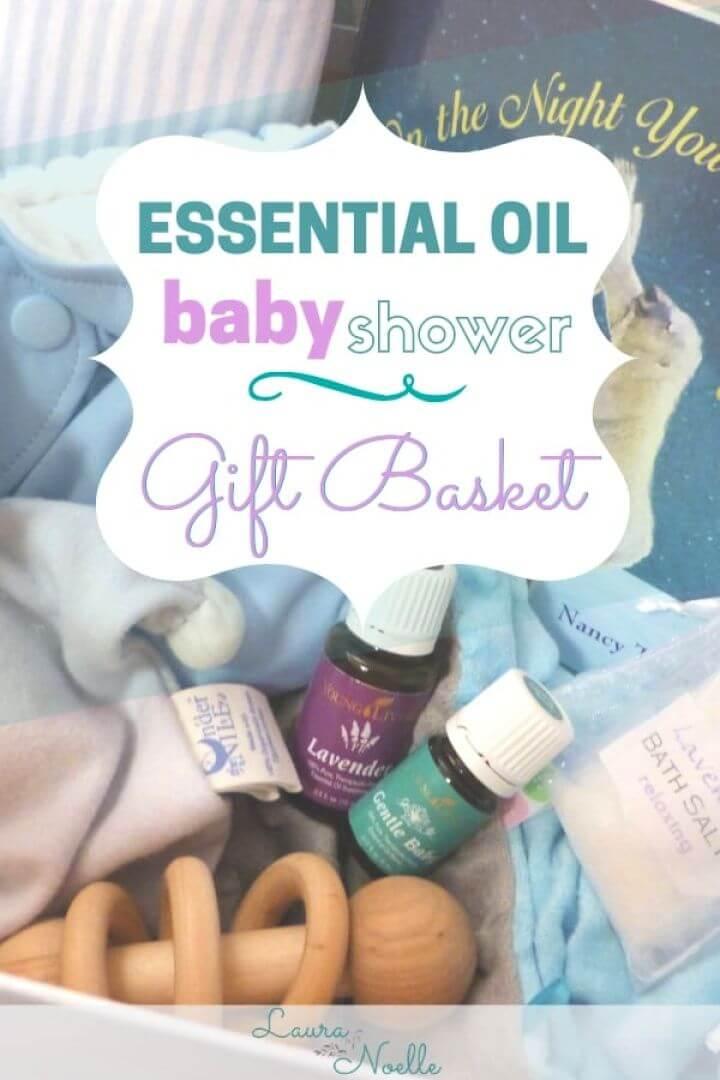 Essential Oil Baby Shower Gift Basket