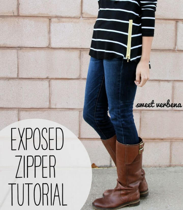 Exposed Zipper Top
