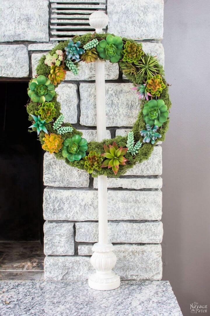 Faux Succulent Summer Wreath