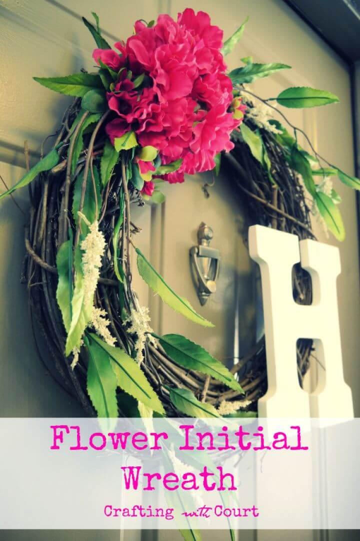 Flower Initial Summer Wreath
