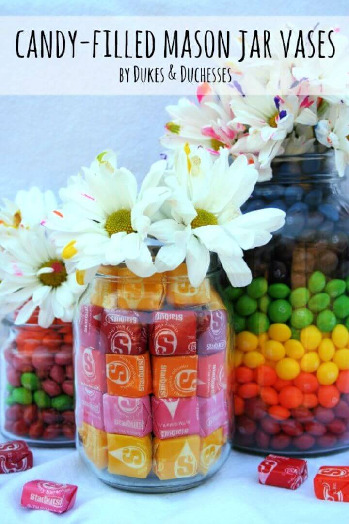 Flowers In A Candy Filled Jar