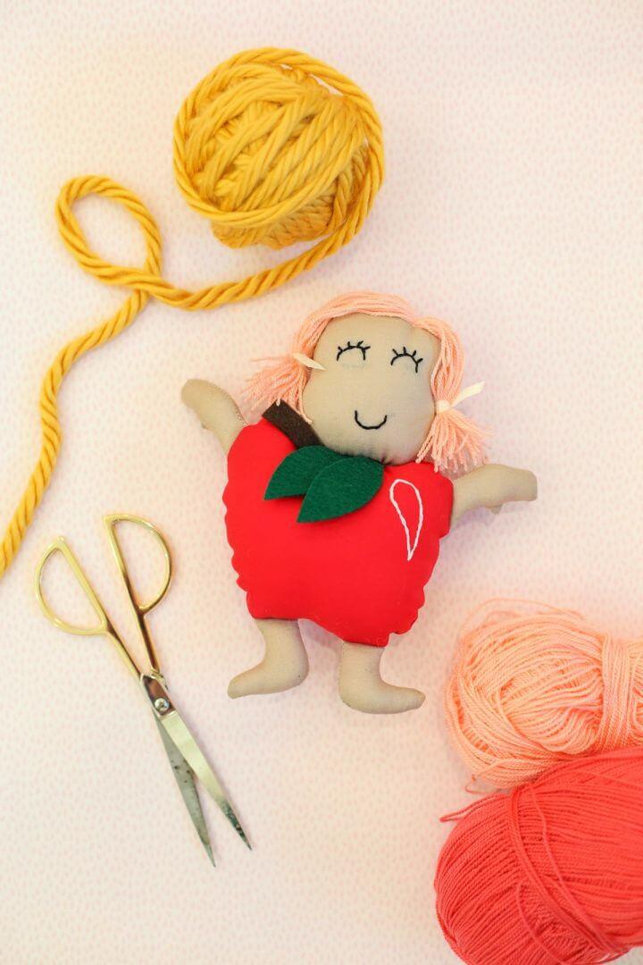 Gift Idea For Kids Make An Apple Doll