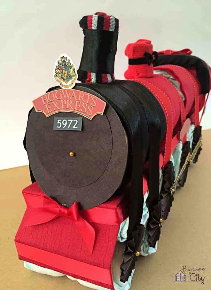 Harry Potter Hogwarts Express Diaper Cake