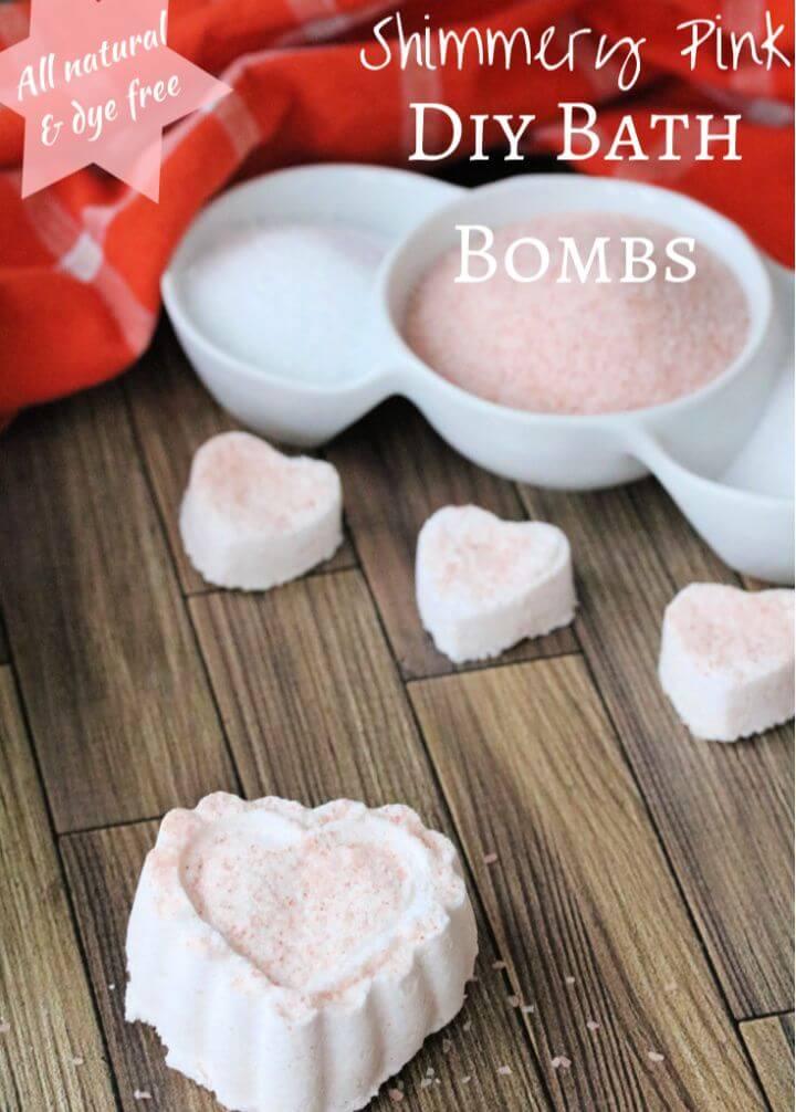 Heart Shaped Bath Bomb Recipe