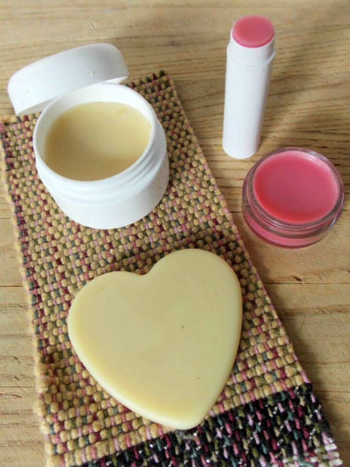 Homemade Lip Balm and Lotion Bar Recipe