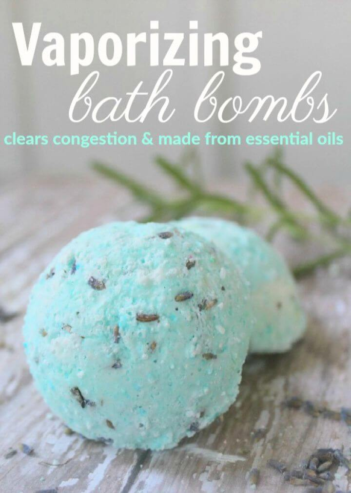 Homemade Vaporizing Bath Bombs Recipe