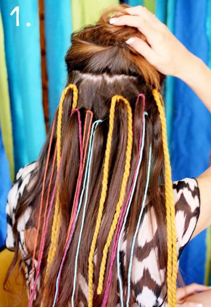 How To Create A DIY Yarn Fishtail Braid
