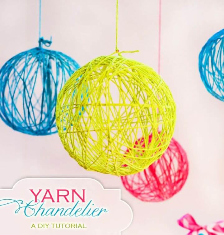 How To Creative Yarn Chandelier