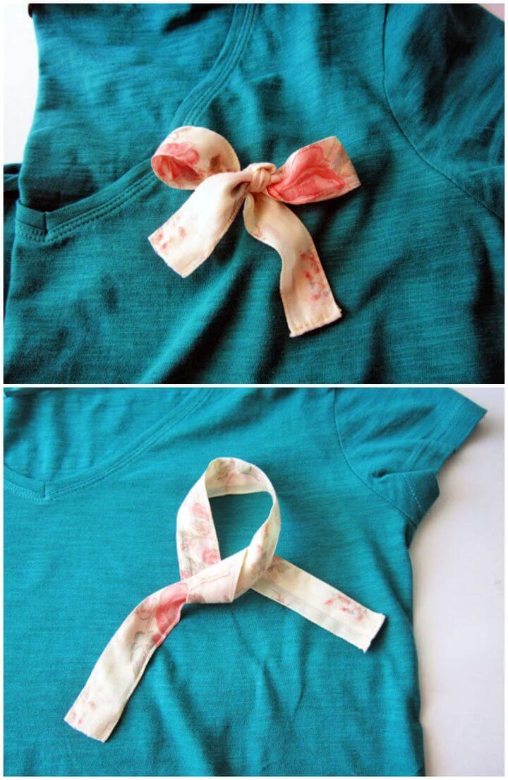 How To DIY T Shirt Refashion
