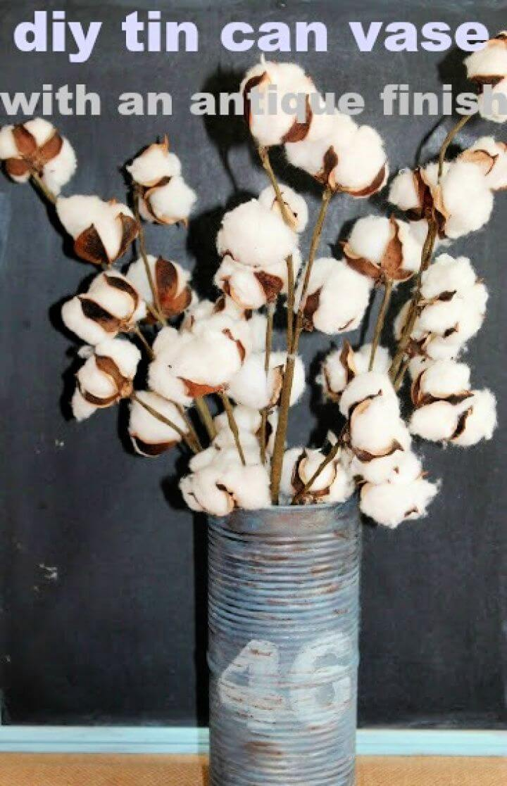 How To DIY Tin Can Vase