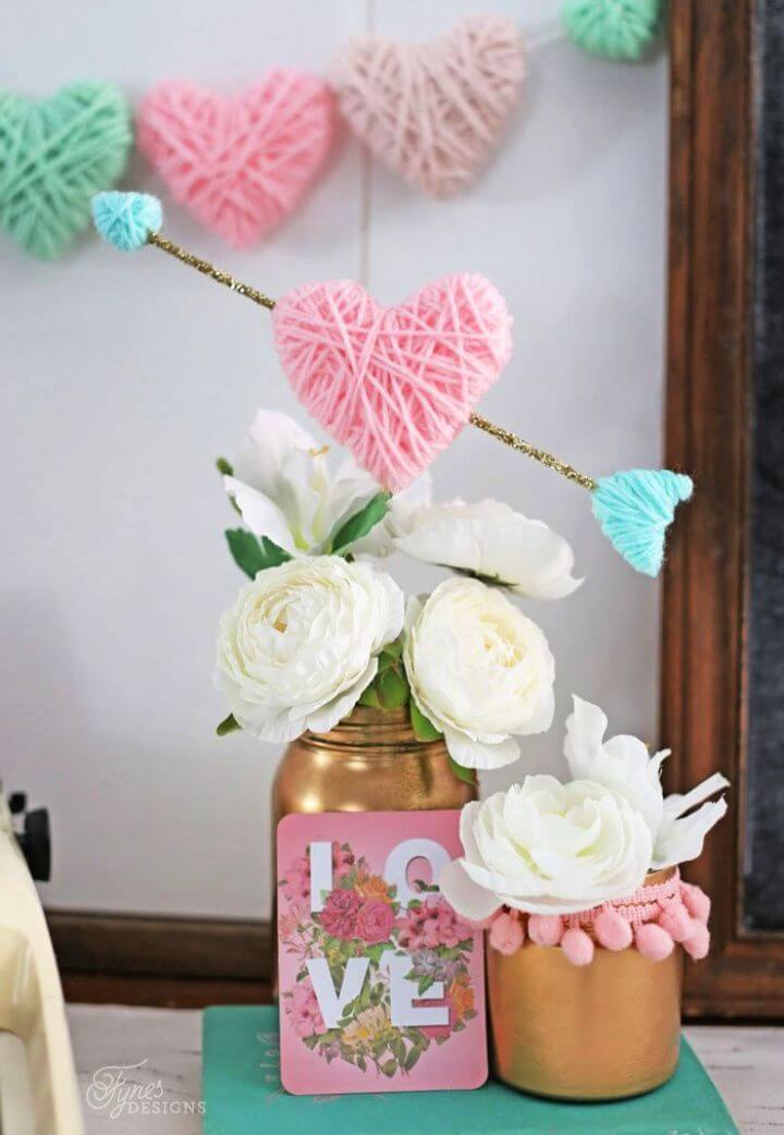 How To DIY Yarn Wrapped Hearts
